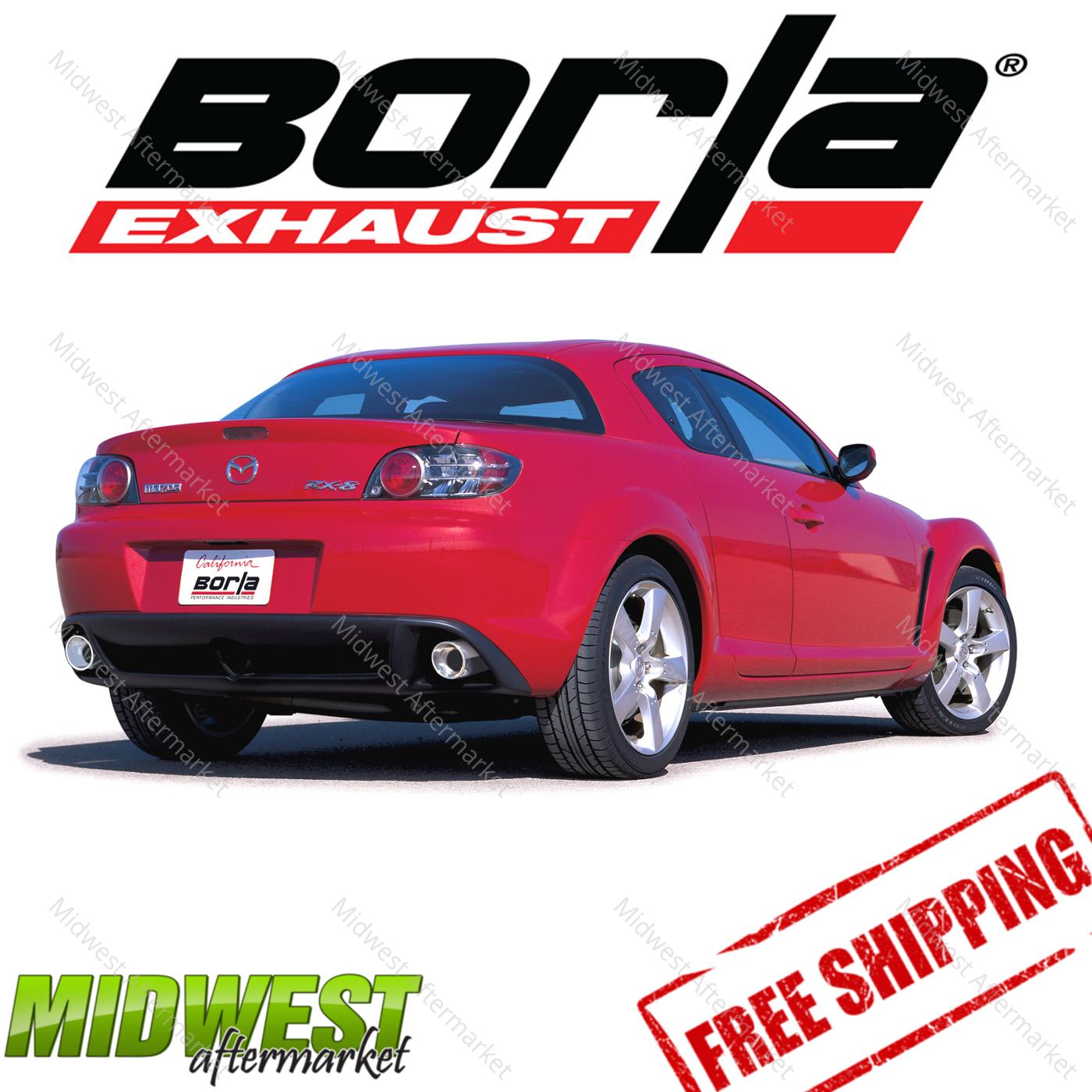 borla s type catback exhaust for 04 08 mazda rx8 1 3l wankel rotary rwd 2 door ebay. Black Bedroom Furniture Sets. Home Design Ideas