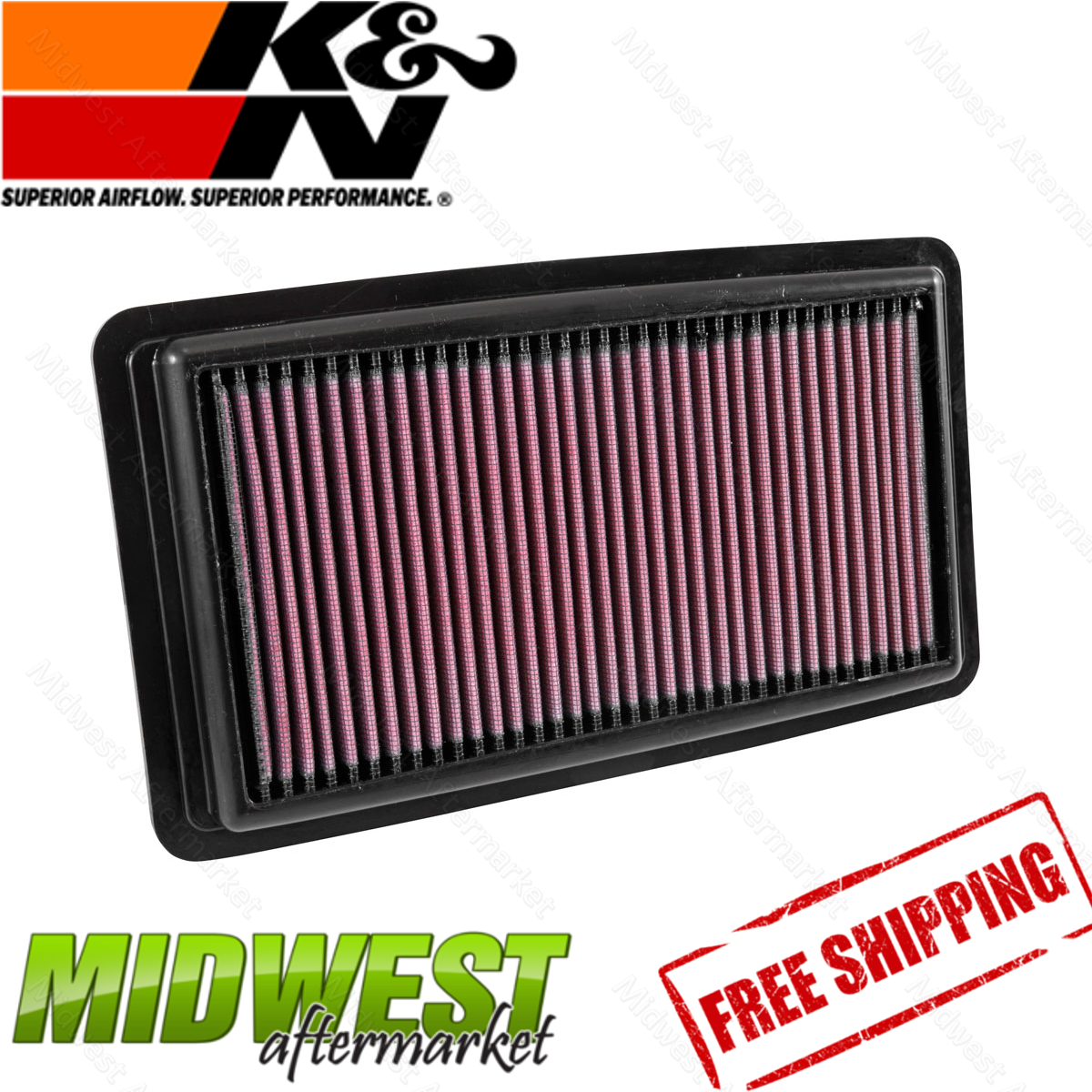 K&N Replacement Panel Air Filter 2016-2017 Honda Pilot