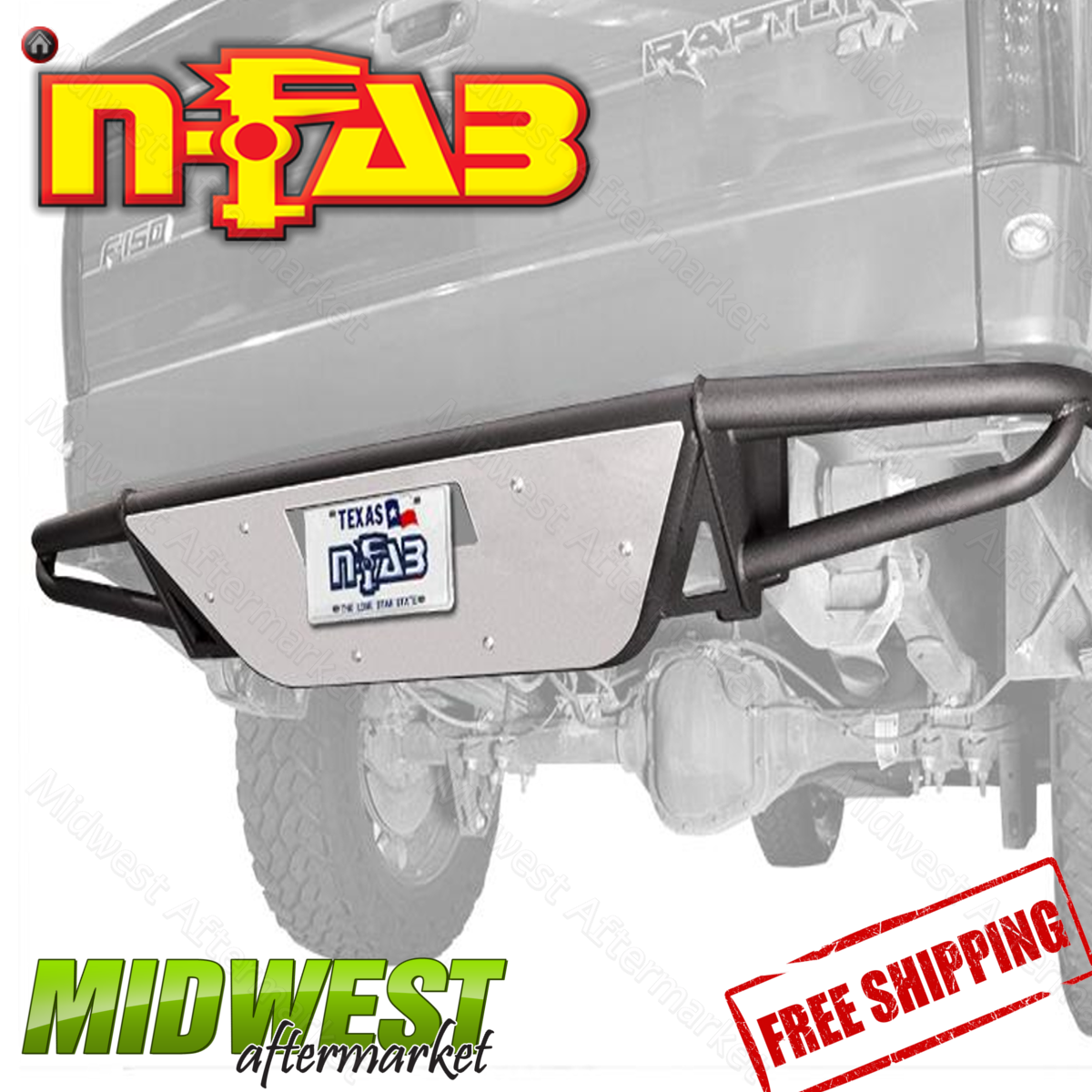 n fab black replacement rear bumper with skid plate fits 2007 2016 toyota tundra ebay. Black Bedroom Furniture Sets. Home Design Ideas